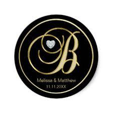 monogram letter b gold monogram letter b stickers zazzle co uk