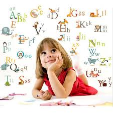 educational learn alphabet animals uk wall sticker
