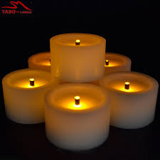 fake tea light candles battery powered unscented flickering flameless led tea light candle