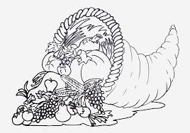coloring pages cornucopia picture pdf page preschool with
