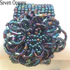 fashion beaded bracelet images 54 seven oceans beaded bracelet bohemian style blue elastic jpg