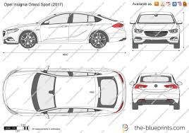 opel insignia grand sport 2017 the blueprints com vector drawing opel insignia grand sport