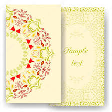 vintage cards floral decorations leaves flowers