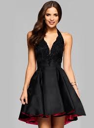 women u0027s halter v neck sleeveless backless a line party dress