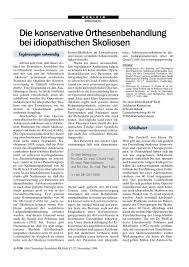 Katharina Schroth Klinik Bad Sobernheim Die Konservative Orthesenbehandlung Bei Idiopathischen Skoliosen