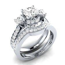 Wedding Rings Sets For Women by Cz Moissanite U0026 Simulated Stone Engagement U0026 Wedding Ring Sets Ebay