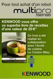 livre cuisine kenwood bon plan kenwood un livre de recettes offert pour tout achat d
