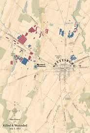 Gettysburg Map Battle Of Gettysburg Dead From July 1 1863 Gettysburg Seminary