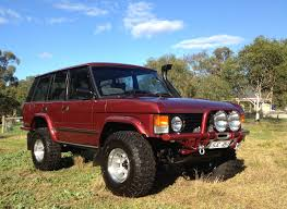 range rover modified red this is a 1990 range rover classic v8 land rover pinterest