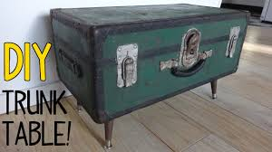 how to make a vintage trunk table youtube