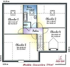 plan maison etage 3 chambres plan maison 100m2 etage affordable plan maison plain pied perpignan