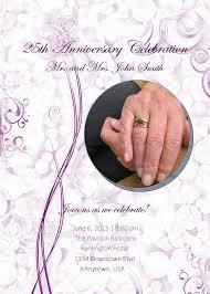 Ruby Anniversary Invitation Cards 25th Anniversary Invitation Templates Contegri Com