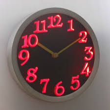 nc0970 b big letter home decor night light neon sign led wall clock