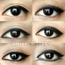 Aplikasi Eyeshadow Sariayu macam2 aplikasi eyeliner sorry for my inconsistency lines