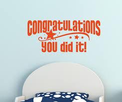 congratulations you did it graduation wall decal vinyl sticker congratulations you did it graduation wall decal vinyl sticker orange loading zoom