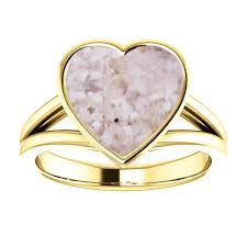 14k yellow gold cremation ring yellow gold heart ring cremation