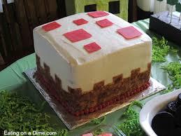 mindcraft cake how to make this cake block minecraft birthday cake on a dime