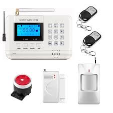dual network wireless lcd gsm pstn home alarm security diy house home burglar security 433mhz english