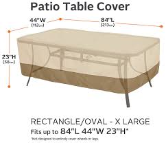 Coffee Table Cover by Amazon Com Classic Accessories Veranda Rectangular Oval Patio