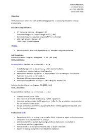 Hvac Technician Resume Examples Hvac Design Engineers Resume