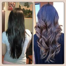 before u0026 after ombré highlights and layers haircut by annie trang