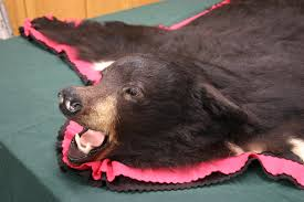 faux black bear skin rug with head bear rug with head black bear
