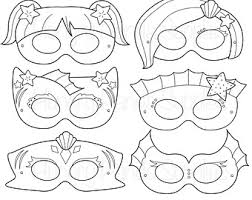 animal heroes printable coloring masks bunny mask cartoon