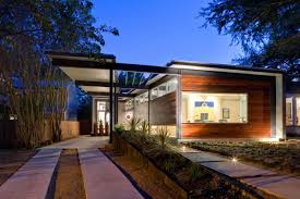 architecture modern one story home designs with woodne walls and