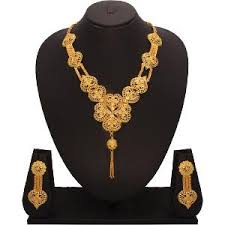 gold jewellery necklace sets images Gold plated necklace set by vendee fashions necklace sets jpg