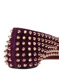 follies spikes suede flats by christian louboutin flat shoes ikrix