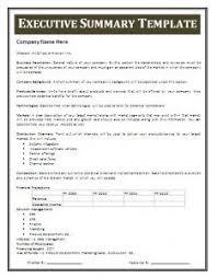 sample resume executive summary format