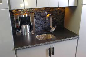 Wet Bar Sink And Cabinets Wet Bar Coffee Maker And Sink Contemporary Dallas By Kitchen