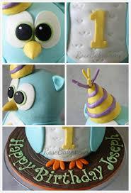 owl cake behance