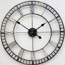 large metal wall clock u2013 plushemisphere