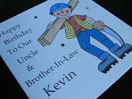 personalised handmade carpenter birthday card dad brother