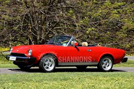 fiat spider 1978 sold fiat 124 spider rhd auctions lot 2 shannons