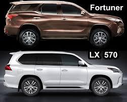 toyota lexus dubai benim otomobilim 2016 lexus lx 570 vs 2016 toyota fortuner design