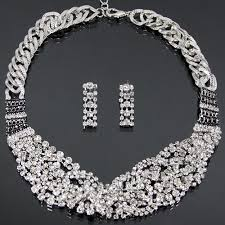 silver rhinestone necklace images Silver braided rhinestone necklace the accessory diva dressy jpg