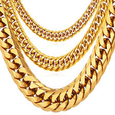 2015 men s jewelry 8mm 60cm new arrival power necklaces u7 hip hop chains for men jewelry wholesale yellow gold plated