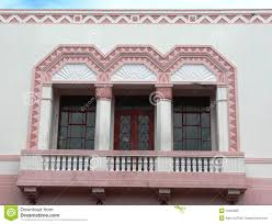 Art Deco Balcony by Exterior Of An Art Deco Building Royalty Free Stock Photography