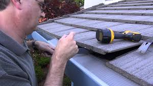 Flat Tile Roof Easyon Gutter Guard Installing On Flat Tile Roof