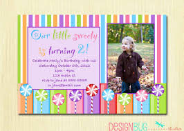 girls lollipop birthday party invitation diy printable candy