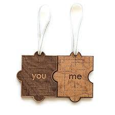 you me puzzle laser cut wood ornament