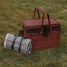 picnic basket set for 4 vintage wicker picnic basket set for 4 persons cesta picnic
