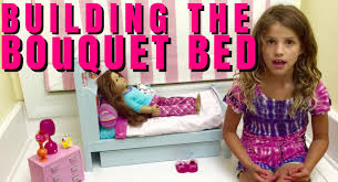 Bedroom Set America Make Setting Up American Doll Bouquet Bed Youtube