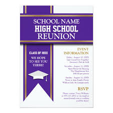 high school reunion banners school colors banner custom class reunion 5x7 paper invitation