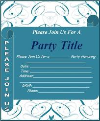 event invitation template free word templates