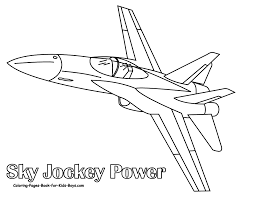 coloring plane for children