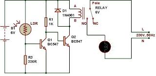 light activated switch circuit working with applications