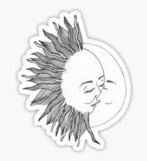 sun and moon stickers redbubble